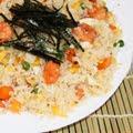 Foto Japanse rijst met garnalen